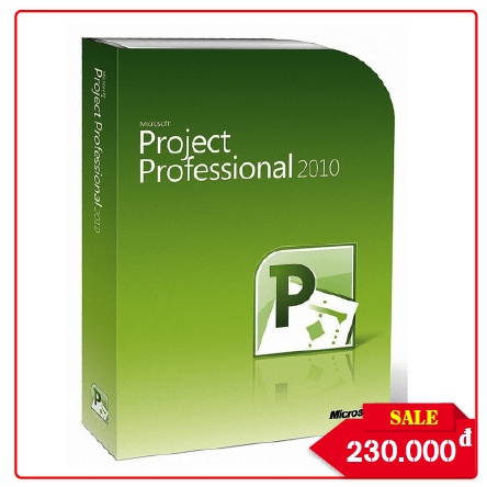 Key Microsoft Project Professional 2010 - Chuẩn Hãng