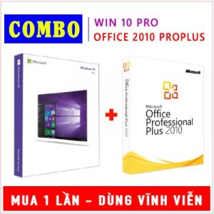 Combo Windows 10 Pro & Office 2010 Pro Plus