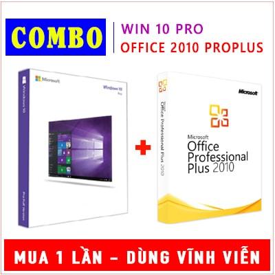 Combo Windows 10 Pro & Office 2010 Pro Plus