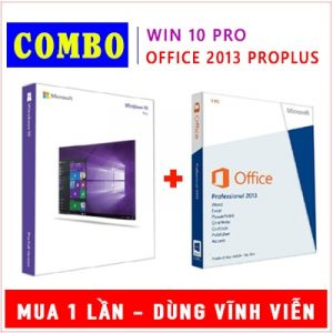 Combo Windows 10 Pro & Office 2013 Pro Plus