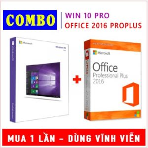 Combo Windows 10 Pro & Office 2016 Pro Plus