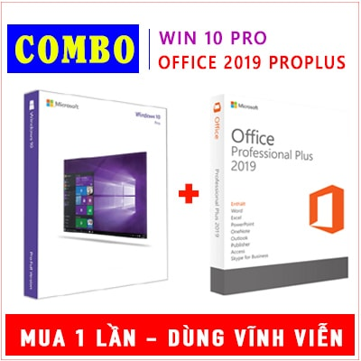 Combo Windows 10 Pro & Office 2019 Pro Plus