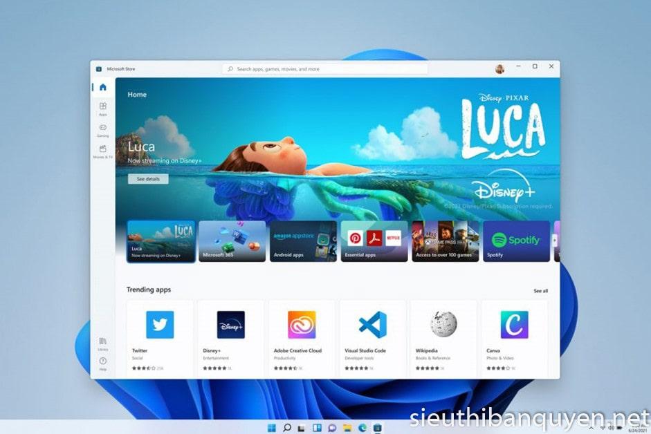 Windows 11 hỗ trợ các ứng dụng Android